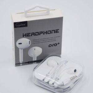 for Apple iPhone Earphone Mobile Phone Headest in-Ear Wired Headset Upright Type with Volume Control and Crystal Box pictures & photos