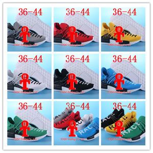 """Double Box Pharrell′s Nmd """"Human Race"""" Runner Shoes Yellow Hu Man Special Being Nmd Size 13 Nmds Boost Running Shoes Orange Black Red pictures & photos"""