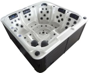 Acrylic Hydro Massage Whirlpool 2 Lounge Bathtub with Pop-up Pillows pictures & photos