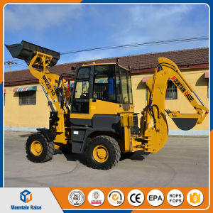 Chinese 0.1 Cbm Bagger Mini Backhoe Loader with Low Price pictures & photos