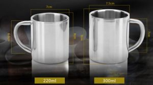 18- 8 Stainless Steel Double Wall Water Cup 220ml (JX-072B) pictures & photos