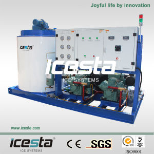 Icesta 10t Industrial Flake Ice Maker for Sale pictures & photos