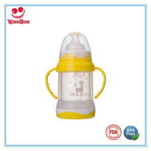 Unbreakable Glass Baby Bottles with Anti-Fall Double Deck pictures & photos