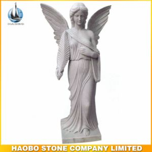 Hot Sale White Marble Angel Statues pictures & photos