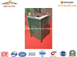 Powder Coated Green Litter Bin pictures & photos