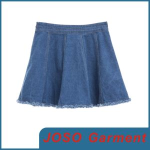 Women Denim Pleated Skirts (JC2033) pictures & photos