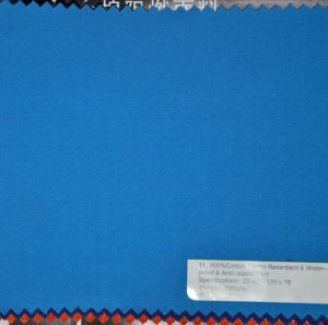 220G/M2 Yarn: 32sx21s Flame Retardant &Water Proof Cotton Twill Fabric pictures & photos