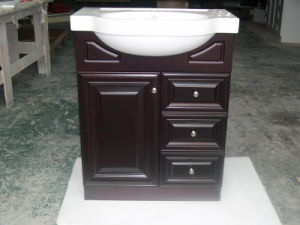 Oak Wood Bathroom Vanity with Ceramic Basin Yb121 (13) pictures & photos