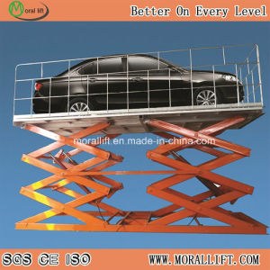 3m 3000kg Scissor Car Parking Lift in Garage pictures & photos