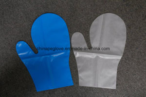 Disposable PE Mitt Gloves pictures & photos