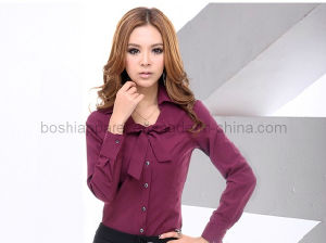 Fashion Women′s Formal Shirt of Long Sleeve (LSH04) pictures & photos
