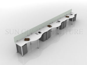 4 Seats Open Modern White Office Workstation Partition (SZ-WS54) pictures & photos