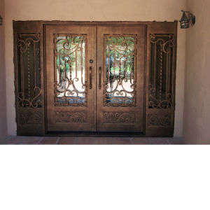 Cheap Price Steel Entrance Wrought Iron Door Gate pictures & photos