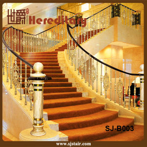 Hotel Curved Stair Casting Aluminum Railing for Hotels Staircase Railing (SJ-B003) pictures & photos