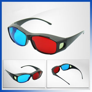 Red Blue Cyan 3D Glasses Anaglyph 3D Vision Plastic Glasses