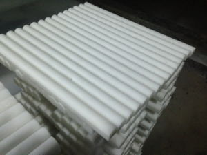 """Thassos White Marble Pencil Liner Bullnose Moulding 3/4""""X12"""" Polished pictures & photos"""