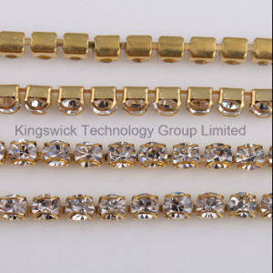 Pink Jewelry Rhinestone Cup Chain for Soldering pictures & photos