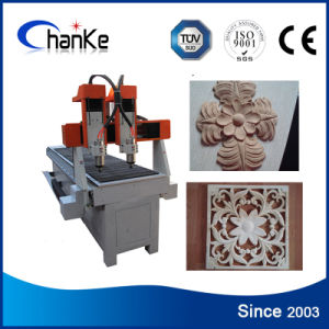 Mini CNC Woodworking Router for Aluminium Brass Wood Stone Ck6090 pictures & photos