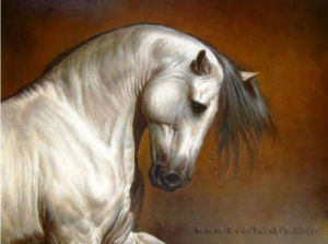 Hand-Painted Modern Animal Art Horse Oil Painting Home Decoration (AN-001) pictures & photos