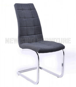 Modern Cheap Chrome Steel Foot Fabric Dining Chair (NK-DC079) pictures & photos