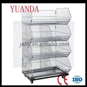 Folded Warehouse Storage Cage Stable Wire Basket pictures & photos