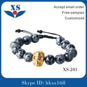 High Quality Gold Plated Skull Custom Bracelets