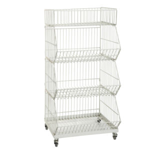 Folding Metal Steel Stacking Wire Warehouse Storage Cage (YD-P002) pictures & photos