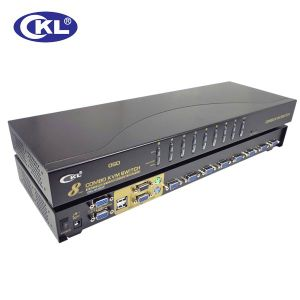 High Quality 8 Port USB&PS/2 Combo Kvm Switch (OSD WITH CABLES)