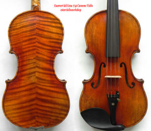 Master Violin 4/4! Guarneri Del Gesu 1742 Cannone Violin Model! Antique Varnish! Vintage Style Violin! Nice Flame Violin