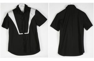 Contrast Color Black/White Casual Shirts for Young Men (s23)