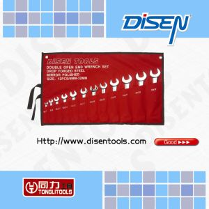12PCS Double Open End Wrench Set (KT501P)