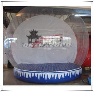 Popular Items Inflatable Snow Globe with Customized Printings Backdrop pictures & photos