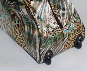 Satin Fabric with PVC Trim Fashion Trolley Bag pictures & photos
