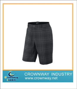 Straight Cut Checkered Short for Men Playing Golf pictures & photos