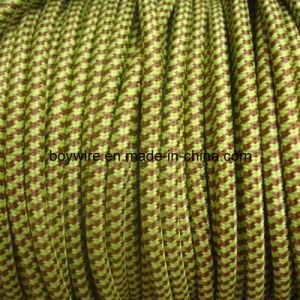 Green with Brown 3 -Core Round Fabric Wire pictures & photos