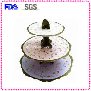 Disposable 3 Tiered Cardboard Cake Stand for Christmas CS3-4