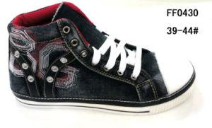 Men MID-Cut Jean Shoes Canvas Shoes Skate Shoes (FF0430) pictures & photos