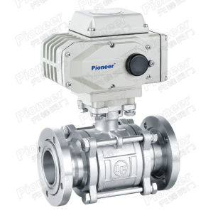 Electric Motorized Flanged Vacuum Ball Valve pictures & photos