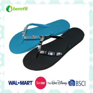 PE Sole and PVC Upper with Beed Decoration, Slippers pictures & photos