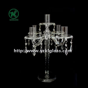 Glass Candle Holders for Party Decoration with Five Posts (10*24*32.5) pictures & photos