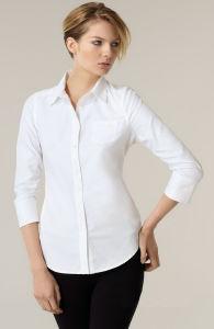 Women′s Fomal Long Sleeve 100%Cotton Shirt