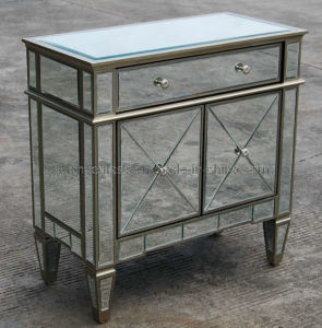 Antique Silver Cabinet with Drawers (JS071B)