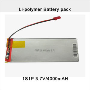 3.7V 4000mAh Li-Po Battery Pack pictures & photos