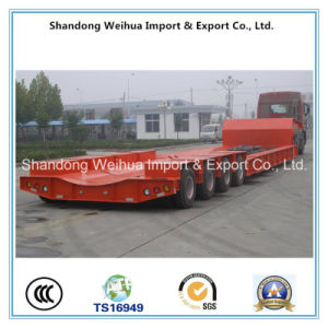 Pull out Stype Low Bed Semi Trailer From China Supplier pictures & photos