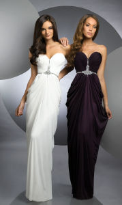 2015 White or Black Beaded Chiffon Evening Dress (ED13004) pictures & photos