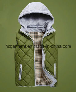 Fashion Overcoat Outer Wear Winter Hoodie Waistcoat for Man/Women pictures & photos