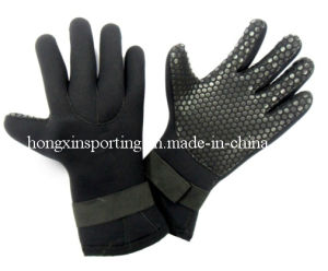 Soft Waterproof Neoprene Gloves for Diving/Fishing (HX-G0002) pictures & photos