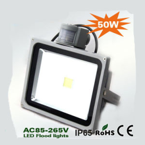 CE RoHS Approved 50W LED Flood Light with Motion Sensor pictures & photos