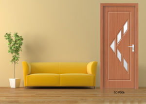 Top Design PVC Doors, HDF Wooden Glass Doors (SC-P057) pictures & photos