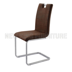 Luxurious Stainless Steel Foot PU Leather Dining Chair (NK-DC037)